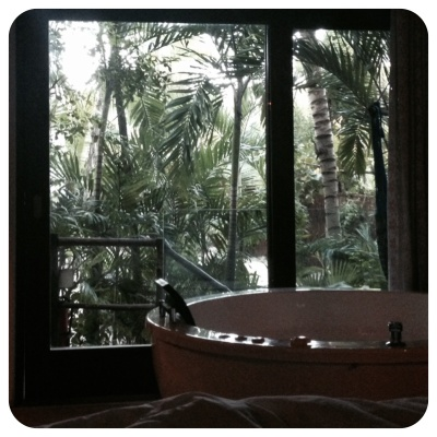 treehouse tub time