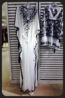 black and white muumuu