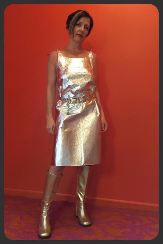 Aluminum foil dress images
